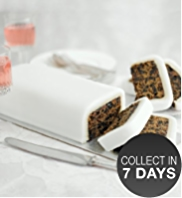 Fruit White Icing Cutting Bar Cake