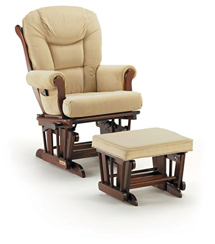 Shermag Glider Rocker Combo, Cherry With Oatmeal