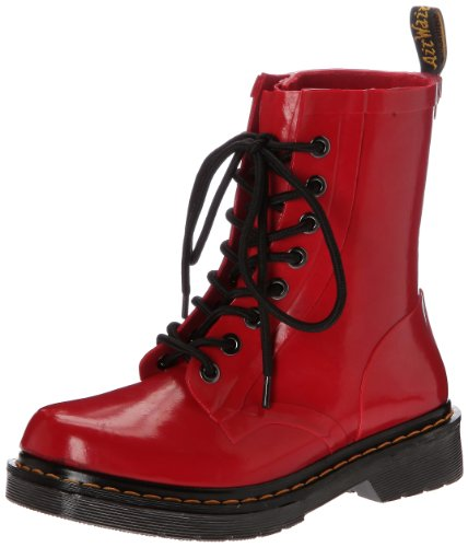 Dr Martens  Drench Vulcanised Rubber,  Stivali donna, Rosso (Rouge (Red Patent)), 37