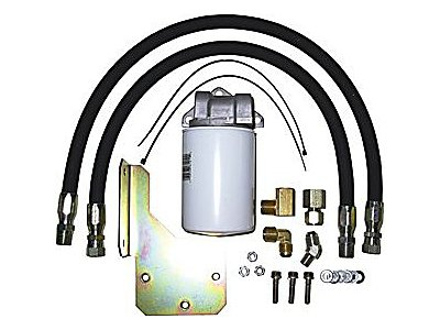 BD Diesel 1064013 Full Flow Transmission Filter; Incl. Heavy Duty Hoses/Fittings/Brackets;
