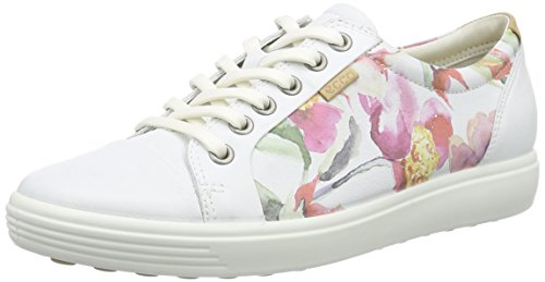 Ecco ECCO SOFT 7 LADIES, Damen Sneakers, Weiß (WHITE FLORAL PRINT/WHITE/POWDER59768), 36 EU (6 Damen UK)