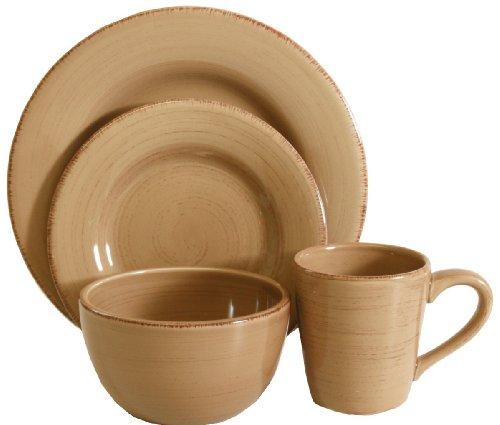 Tag Sonoma Ironstone Ceramic 16-Piece Dinnerware Set, Service for 4, Tan