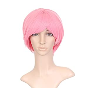 Strawberry Pink Short Length Anime Cosplay Costume Wig