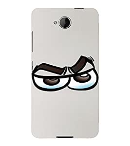 PrintVisa Cool Cartoon Emotion 3D Hard Polycarbonate Designer Back Case Cover for Nokia Lumia 650