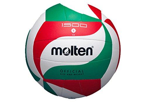 Molten V5M1500 - pallone da pallavolo, colore bianco/ verde / rosso, taglia 5