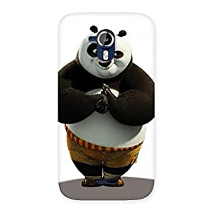 Cute Punching Panda White Black Back Case Cover for Micromax Canvas Magnus A117