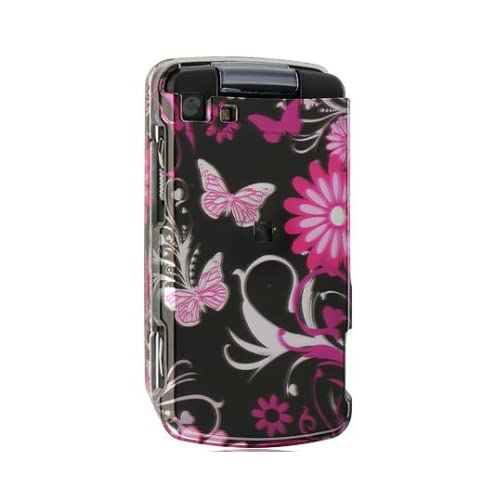 NEW PINK FLOWER BUTTERFLY CASE COVER FOR SPRINT/NEXTEL
