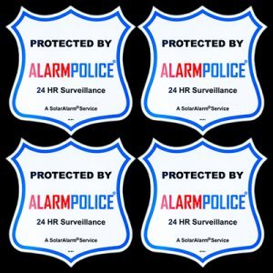 """(4) PoliceAlert™ 4"""" New Warning! CCTV Video Sign Security Camera Stickers"""
