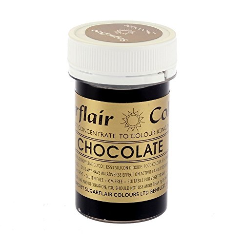 sugarflair-chocolate-brown-25g-concentrated-edible-gel-food-colour-paste-perfect-for-cake-decoration