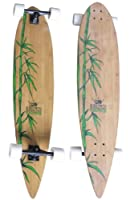 Krown Krex 2 Bamboo Pintail Complete Longboard, 9x43-Inch from KROWN