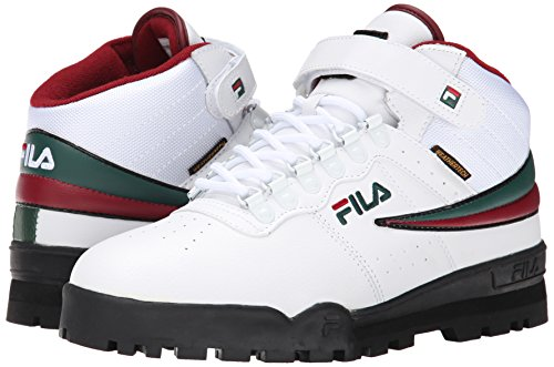 Fila Men's F-13 Weather Tech Hiking Boot, White/Sycamore/Biking Red, 10 M US
