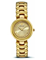 Hanowa Women's 16-8002.02.002.10 Circles Set Interchangeable Bezel Gold IP Watch