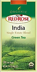 Red Rose Organic India Single Estate Blend Green Tea by Redco Foods Inc