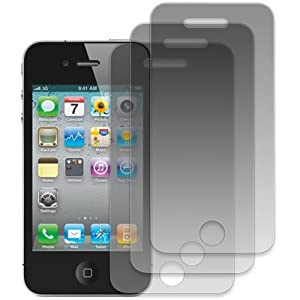 EMPIRE Apple iPhone 4 / 4S - 3 Pack of Matte Anti-Glare Screen Protectors [EMPIRE Packaging]