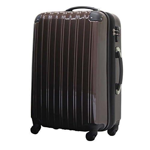 ファスナー スーツケース 5032 小型 ブラウン