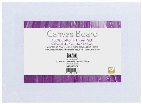 Art Advantage 8-Inch by 10-Inch Canvas Board, 3-Pack