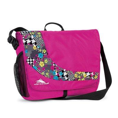 High Sierra Chip Messenger Bag, Fuchsia/Pink, 16x11.5x4.5-Inch