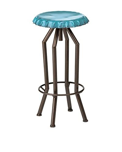 Metal Loft Taburete De Bar Artisan Azul