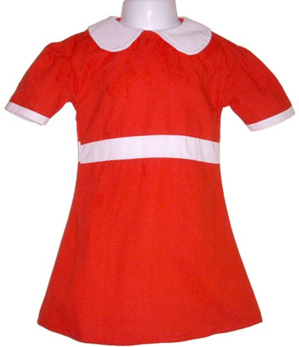 BdayParties Little Orphan Annie Dress Costume Child, Large 6-8 NIP, Red