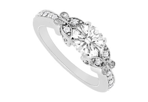 Cubic Zirconia Engagement Ring .925 Sterling Silver 0.66 CT TGW cubic zirconia engagement ring 925 sterling silver 0 66 ct tgw