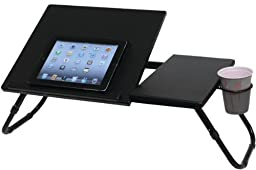 Atlantic - Notebook Tray - Atlantic - Notebook Tray Durable & Efficient Work Surface 4 Different Angle Positions For Main Top With Stopper Cup Holderlegs Adjust To 2 Different Heights