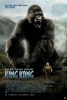 King Kong Roar Naomie Watts Jack Black Adrien Brody Movie Poster 24 x 36 inches