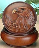 StealStreet Faux Wood Eagle Jewelry Trinket Box Collectible Decoration Container