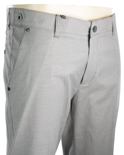 Mens Slim Fit Trousers Light Grey Black Stud Design Smart Italian Style Formal or Casual