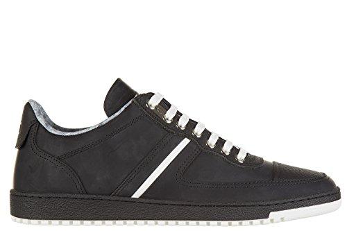 Dior scarpe sneakers uomo in pelle nuove nero EU 41 3SN141WUI