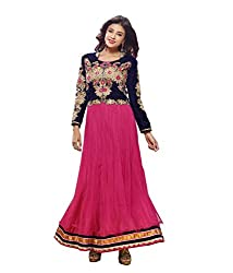 Monalisa Fabrics Women's Unstitched Dress Material (2251133_Pink _Free Size)