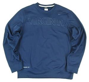 Virginia Cavaliers Nike KO Fleece Crew Sweatshirt - Navy by Nike