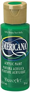 DecoArt Americana Acrylic Paint, 2-Ounce, Kelly Green