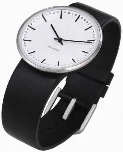 Rosendahl 43431 - Reloj analógico unisex de cuarzo con correa de piel negra