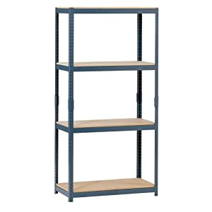 "Edsal HR153060 4-Tier Steel Storage Shelving, 1000lbs Capacity, 30"" Width x 60"" Height x 15"" Depth at Sears.com"