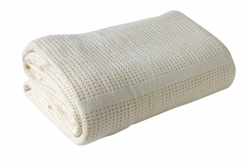 Clair-de-Lune-Pram-Travel-Extra-Soft-Cotton-Cellular-Blanket-Cream