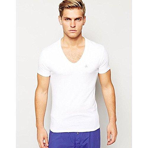 (カルバンクライン) Calvin Klein メンズ トップス Tシャツ Calvin Klein T-Shirt Liquid Cotton Curve Neck 並行輸入品