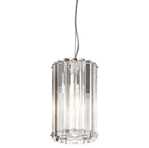 Kichler Lighting 42174CH Crystal Skye 1-Light Mini Pendant, Chrome Finish with Crystal Prisms