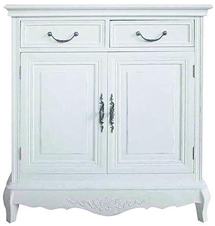 My Flair cómoda con 2 Puertas 2 Cajones Blanco Medi extracto de estilo rústico