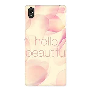 Gorgeous Hello Beautiful Multicolor Back Case Cover for Sony Xperia Z2