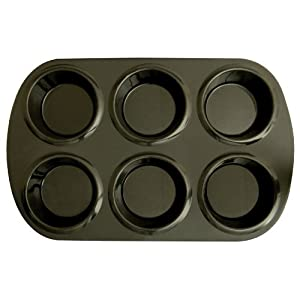 Silicone Solutions Standard 6 Cup Muffin Pan, Black