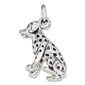 STERLING SILVER THREE DIMENSIONAL DALMATIAN DOG CHARM