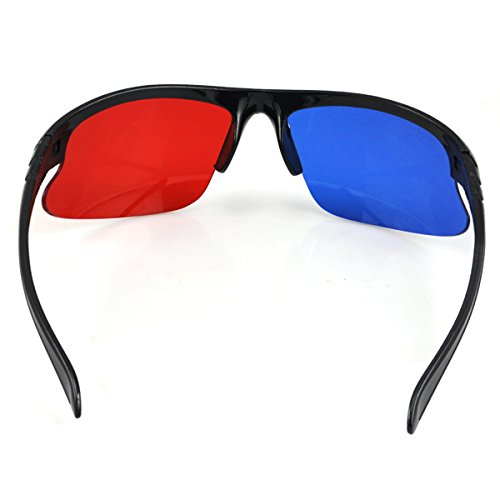Topro Cyan Red Blue Anaglyph 3D VISION Myopia & General Glasses For TV Movie Game DVD Video