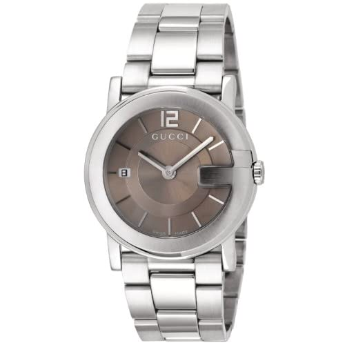 [グッチ]GUCCI 腕時計 Gラウンド ブラウン文字盤 デイト YA101408 メンズ 【並行輸入品】