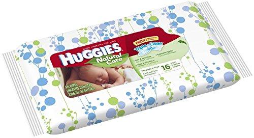 Huggies Natural Care Unscented Baby Wipes 16ct. Travel Pack - 1