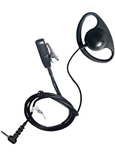 Motorola TLKR series earpiece D shape with microphone