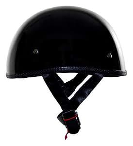 Vega XTS Naked Half Helmet (Gloss Black, X-Large)