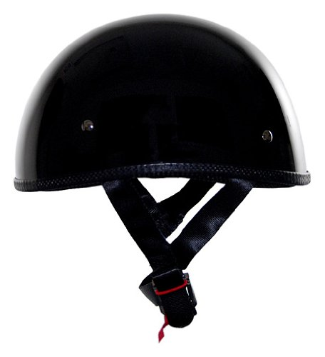 Motorcycle Helmets: Vega XTS Naked Flat Black X-Large Half