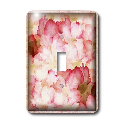 3dRose LLC lsp_36581_1 Pink and Red Rose Petals, Single Toggle Switch