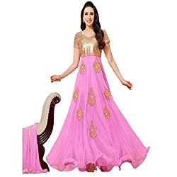 Typify Women's Georgette Unstitched Dress Material (TYPIFY259_Pink_Free Size)