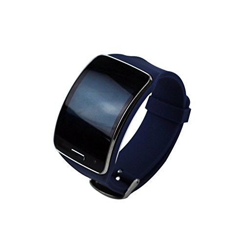 Supower® Replacement of Samsung Gear S Smartwatch Band with Metal Buckle for Super AMOLED Display Wearables Navy Blue